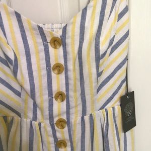 Vince Camuto striped button down dress